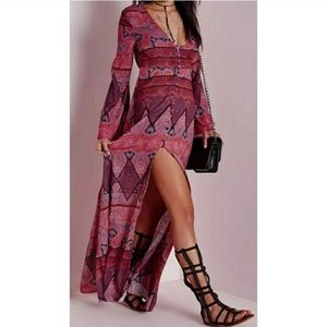 Missguided Paisley Maxi Dress
